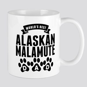 Worlds Best Alaskan Malamute Dad Mugs