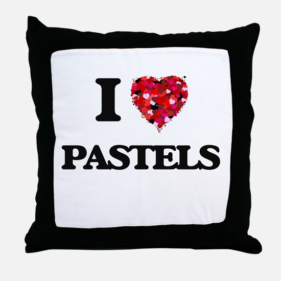 I Love Pastels Throw Pillow