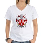 Cubelos Family Crest Women's V-Neck T-Shirt