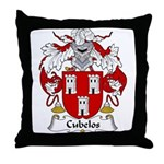 Cubelos Family Crest Throw Pillow