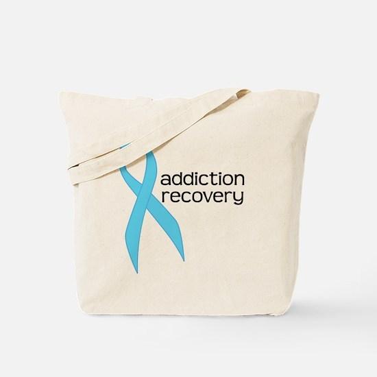 Addiction Recovery Ribbon Tote Bag