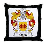 Cordes Family Crest Throw Pillow