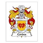 Cordes Family Crest Small Poster