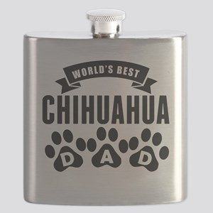 Worlds Best Chihuahua Dad Flask