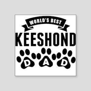 Worlds Best Keeshond Dad Sticker