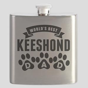 Worlds Best Keeshond Dad Flask