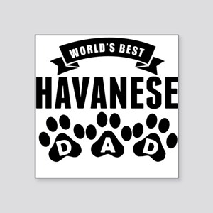 Worlds Best Havanese Dad Sticker