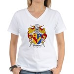 Chanoca Family Crest  Women's V-Neck T-Shirt