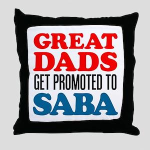 Promoted To Saba Drinkware Throw Pillow