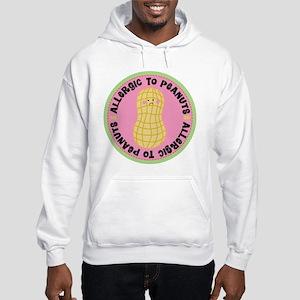 Allergic To Peanuts Hooded Sweatshirt