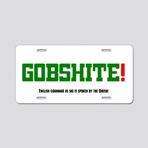 GOBSHITE - ENGlISH GRAMMAR Aluminum License Plate