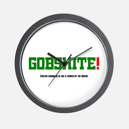 GOBSHITE - ENGlISH GRAMMAR AS SHE IS SP Wall Clock