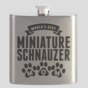 Worlds Best Miniature Schnauzer Mom Flask