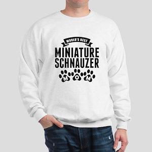 Worlds Best Miniature Schnauzer Mom Sweatshirt