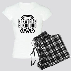 Worlds Best Norwegian Elkhound Mom Pajamas