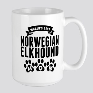 Worlds Best Norwegian Elkhound Mom Mugs