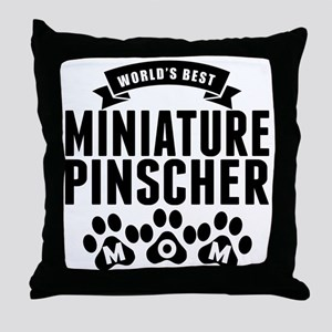 Worlds Best Miniature Pinscher Mom Throw Pillow