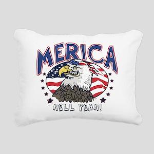 Merica, Hell Yeah Patriotic Bald Eagle Rectangular