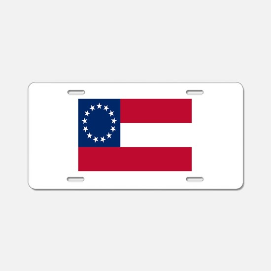 CSA First National Flag Aluminum License Plate