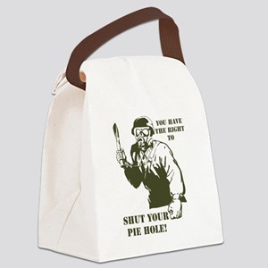 Pie hole Canvas Lunch Bag