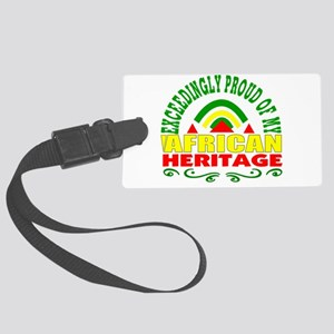 African American Large Luggage Tag
