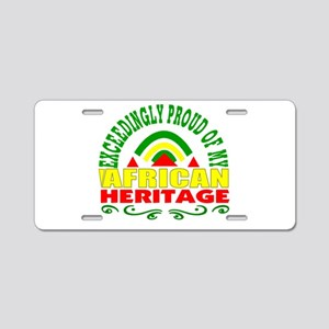 African American Aluminum License Plate