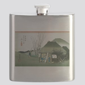 Famous Teahouse at Mariko by Hiroshige Flask