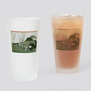 Famous Teahouse at Mariko by Hirosh Drinking Glass