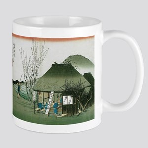 Famous Teahouse at Mariko by Hiroshige Mugs