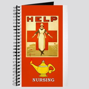 Red Cross Nurse and Lamp Journal