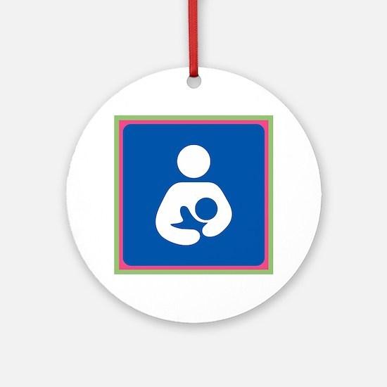 Brestfeeding Icon Ornament (Round)