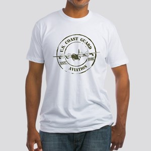 USCG Aviation (C-130) Fitted T-Shirt