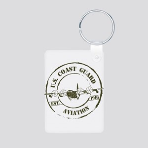 USCG Aviation (C-130) Aluminum Photo Keychain