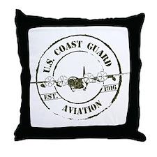 USCG Aviation (C-130) Throw Pillow