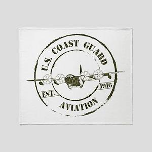 USCG Aviation (C-130) Throw Blanket