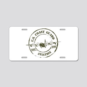 USCG Aviation (C-130) Aluminum License Plate