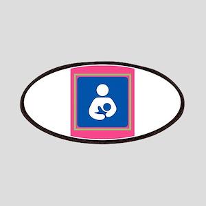 Breastfeeding symbol 7b14 pink green Patch