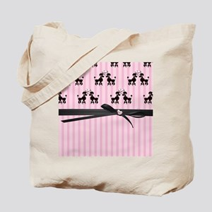 Poodles And Pink Hearts Tote Bag