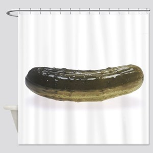 Dill Pickle Shower Curtain