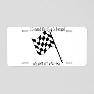 Flag Banning Humor Aluminum License Plate