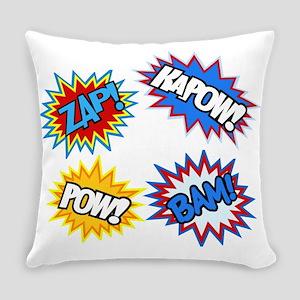 Hero Pow Bam Zap Bursts Everyday Pillow
