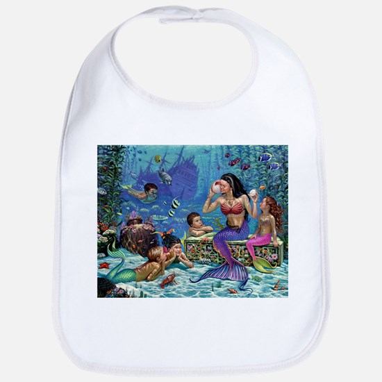 Mermaid And Her Children Bib