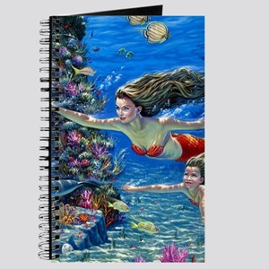 Mermaid And Her Daughter Swimming Journal