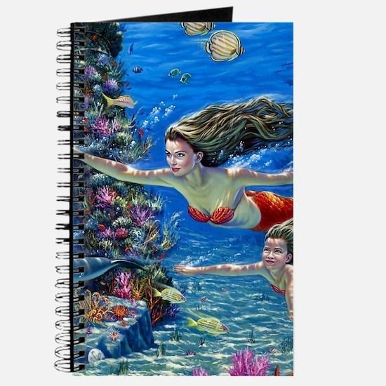 Mermaid And Her Daughter Swimming Journal