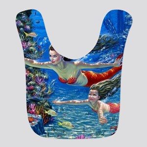 Mermaid And Her Daughter Swimming Bib