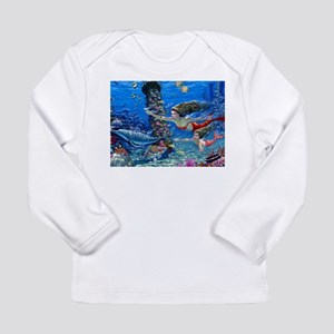 Mermaid And Her Daughter Swimming Long Sleeve T-Sh