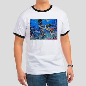 Mermaid And Her Daughter Swimming T-Shirt