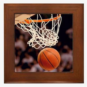 Basketball Scoring Framed Tile