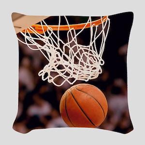 Basketball Scoring Woven Throw Pillow