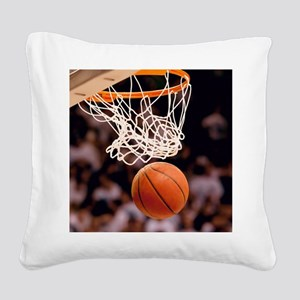 Basketball Scoring Square Canvas Pillow